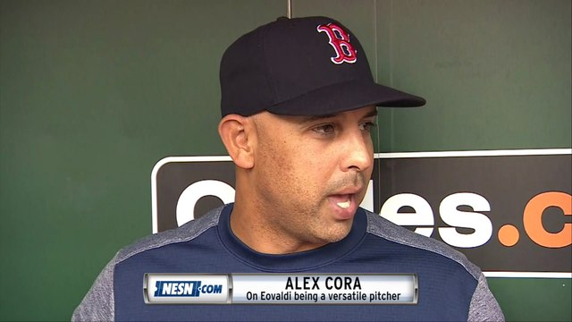 Alex Cora on what Nathan Eovaldi will bring to the Red Sox