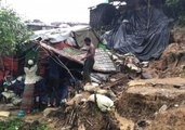 Heavy Rains Cause Flooding, Landslide Risks in Cox's Bazar Rohingya Camps