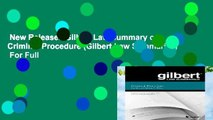 New Releases Gilbert Law Summary on Criminal Procedure (Gilbert Law Summaries)  For Full