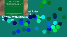 EBOOK Reader Federal Rules of Civil Procedure; 2018 Edition: With Statutory Supplement Unlimited