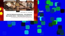 New Releases International Human Resource Management: A Multinational Company Perspective