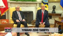 Trump and top European leader agree to work toward zero tariffs