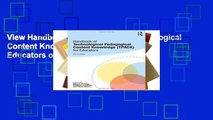 View Handbook of Technological Pedagogical Content Knowledge (TPACK) for Educators online