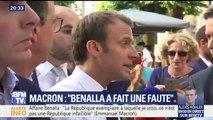 Affaire Benalla: Emmanuel Macron s'exprime pour la première fois devant la presse