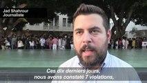 Liban: manifestation d'activistes pour la liberté d'expression