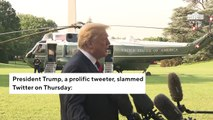 Trump Says He'll Look Into 'Discriminatory And Illegal Practice' Of Twitter 'Shadow Banning'