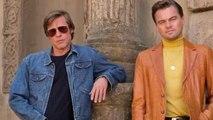 Brad Pitt Takes Leonardo DiCaprio For A Ride On Tarantino Set