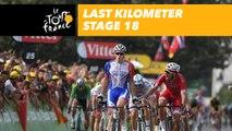 Last kilometer / Flamme rouge - Étape 18 / Stage 18 - Tour de France 2018