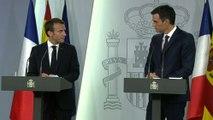 Conférence de presse conjointe d'Emmanuel Macron et de Pedro Sánchez Pérez-Castejón, Président du Gouvernement d'Espagne