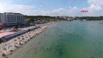 Çanakkale Hamzakoy Halk Plajı Tatilcilerin Gözdesi Oldu