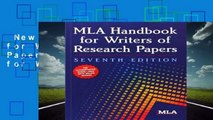New Releases MLA Handbook for Writers of Research Papers (Mla Handbook for Writers of Research