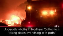 Apocalyptic scenes as deadly California wildfire spreads