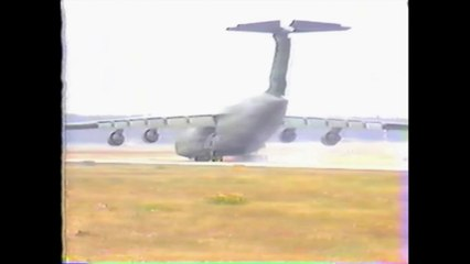 C-5A Nose Gear Up Landing  At Travis AFB