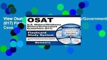 View Osat U.S. History/Oklahoma History/Government/Economics (017) Flashcard Study System: Ceoe