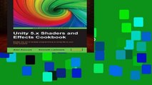 [book] Free Unity 5.x Shaders and Effects Cookbook: Master the art of Shader programming to bring