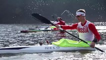 Training of kayak sprint mans russian team