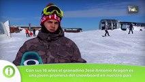 HDL José Antonio Aragón, con la mirada puesta en el snowboard mundial