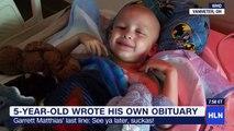 Boy gets last word in self-written obituary