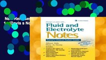New Releases Fluid and Electrolyte Notes 1e (Davis s Notes)  Review