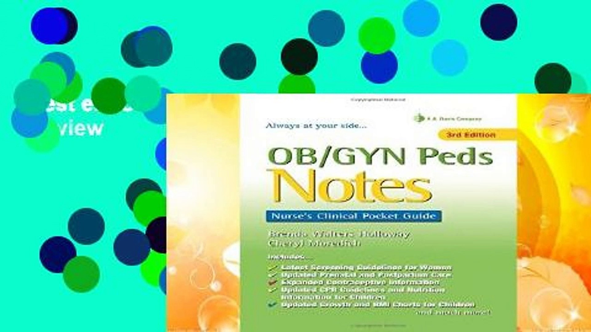 Best ebook Ob/Gyn Peds Notes 3e Review