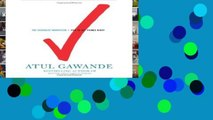 Get Ebooks Trial The Checklist Manifesto: How to Get Things Right D0nwload P-DF