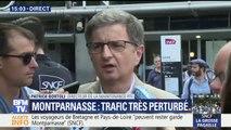 """Montparnasse à l'arrêt: """"Un feu s'est déclaré dans des galeries souterraines qui amènent nos câbles entre le poste électrique et la gare"""" (RTE)"""