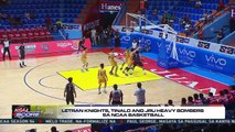 The Score: Letran Knights celebrates victory against JRU Heavy bombers in the NCAA Basketball