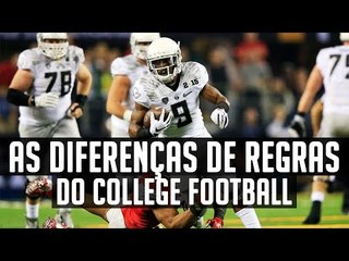 As Regras do College Football - Diferenças para a NFL