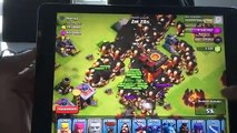 Clash of clans   300 Golems & 300 Giants mass Gameplay
