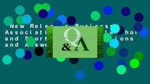 New Releases Business Associations: Multiple-choice and Short-answer Questions and Answers
