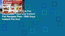 Favorit Book  Instant Pot Cookbook: 1000 Day Instant Pot Recipes Plan: 1000 Days Instant Pot Diet