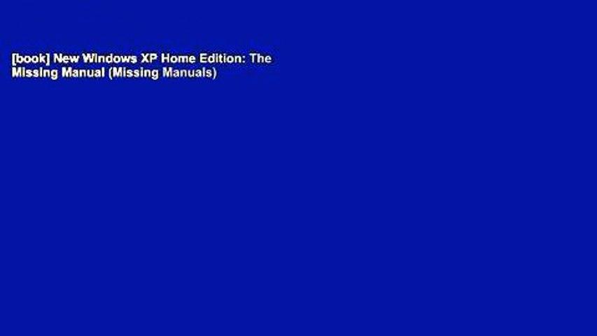 The Missing Manual Windows XP Pro