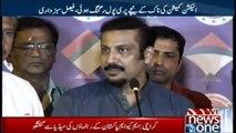karachi  MQMP leaders talks to media