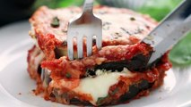 Delicious Baked Eggplant Parmesan with crispy coated eggplant slices smothered in cheese and marinara. WRITTEN RECIPE: