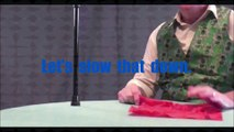 Silk Through Cane - A Silk Passes Right Through A Walking Cane In Full View - Slow Motion