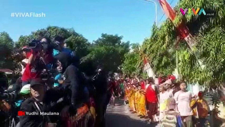 Meriah! Kirab Api Obor Asian Games di Bulukumba