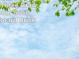 Modus Furniture 3F4173 Meadow Three Drawer Three Door Solid Wood Sideboard Brick