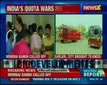 Maharashtra  Bandh Maratha Kranti Morcha Called Off 'Mumbai Bandh'