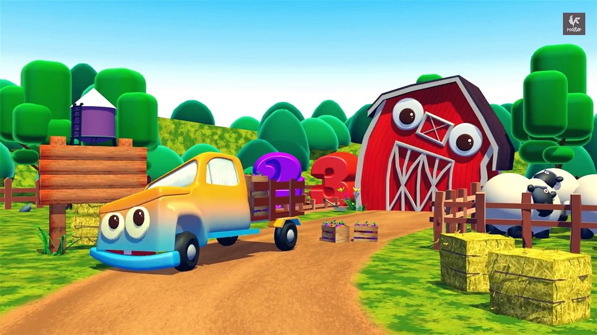 Color Learning video for kids with Cars - Kids Fun Farm Tv