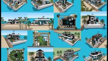 SIMS HOUSEBOAT ISLAND PARADISE HOUSEBOAT DESIGNS IDEAS SIMS 3 SIMS 4 BUILDING Exhibition and expo  L