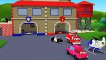 La Super Patrouille, camion pompier et voiture de police, et le camion perdu à Car Citys