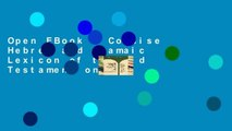 Open EBook A Concise Hebrew and Aramaic Lexicon of the Old Testament online