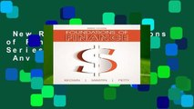 New Releases Foundations of Finance (Pearson Series in Finance)  Any Format