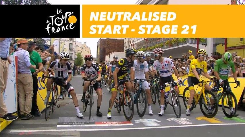 Départ fictif / Neutralised start - Étape 21 / Stage 21 - Tour de France 2018