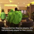 Sad one for African Football. Could this be why we dont do well in Worldcups?Caught on camera is Super Eagles Chief Coach, Salisu Yusuf taking cash from report