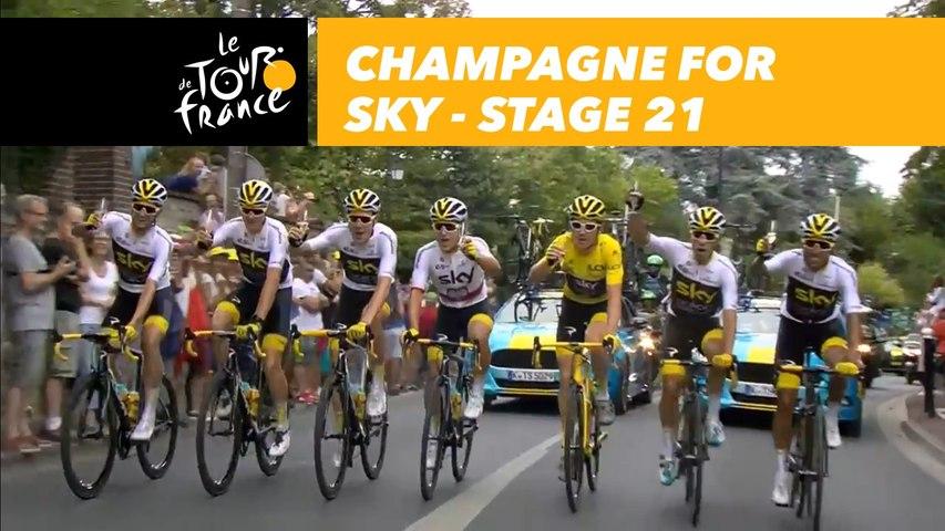 Champagne pour l'équipe Sky / Champagne for Sky - Étape 21 / Stage 21 - Tour de France 2018
