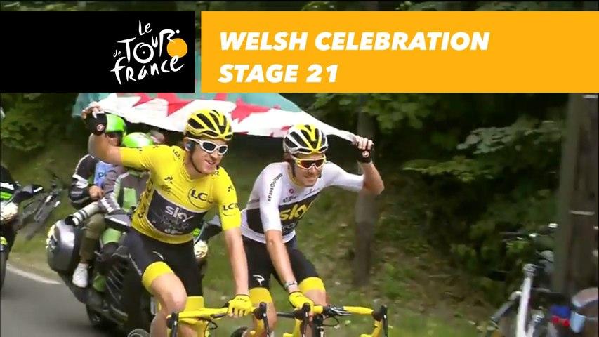 Fierté pour les Gallois / Welsh celebration - Étape 21 / Stage 21 - Tour de France 2018