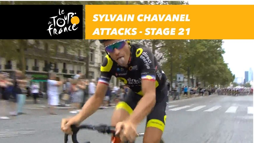 Attaque de Sylvain Chavanel / Chavanel Attacks! - Étape 21 / Stage 21 - Tour de France 2018
