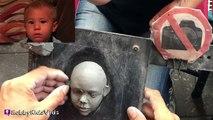 New York Street Artist! Super Cool Speed Clay Sculpting Art HobbyKidsVids