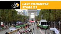 Last kilometer / Flamme rouge - Étape 21 / Stage 21 - Tour de France 2018